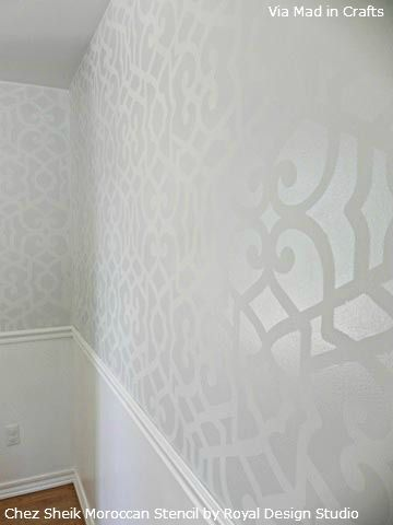 The Moroccan Chez Sheik Stencil is super popular with professional  finishers, DIYers and even superstar