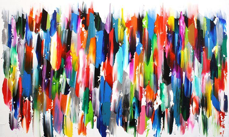 Young and Free / 36x60 pouces Acrylique sur toile 2015