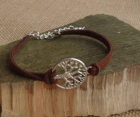 Tree of Life Suede Bracelet Jewelry Family by NewJewelleryStory