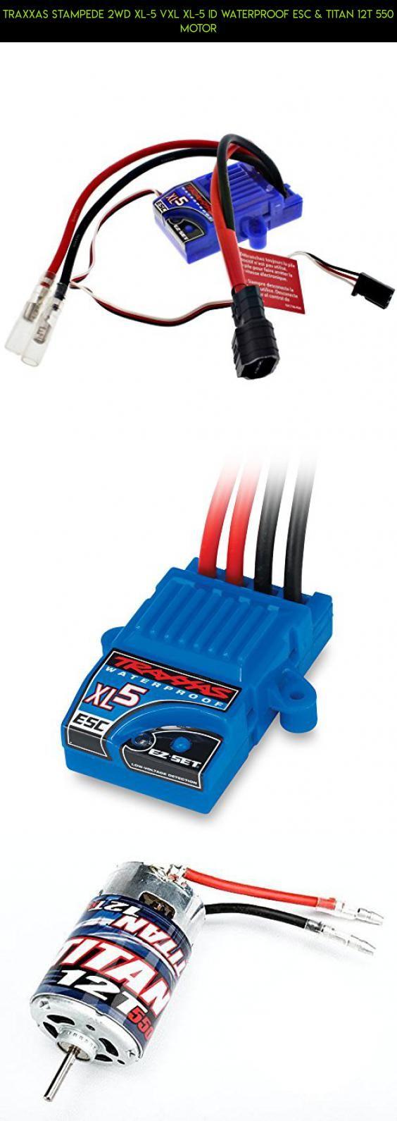 Traxxas Stampede 2wd XL-5 VXL XL-5 iD WATERPROOF ESC & TITAN 12T 550 Motor #drone #tech #shopping #550 #traxxas #kit #technology #gadgets #12t #motor #parts #fpv #titan #racing #plans #camera #products