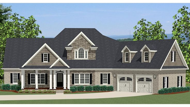 Home Plan HOMEPW77159 - 2549 Square Foot, 3 Bedroom 2 Bathroom Craftsman Home with 2 Garage Bays | Homeplans.com