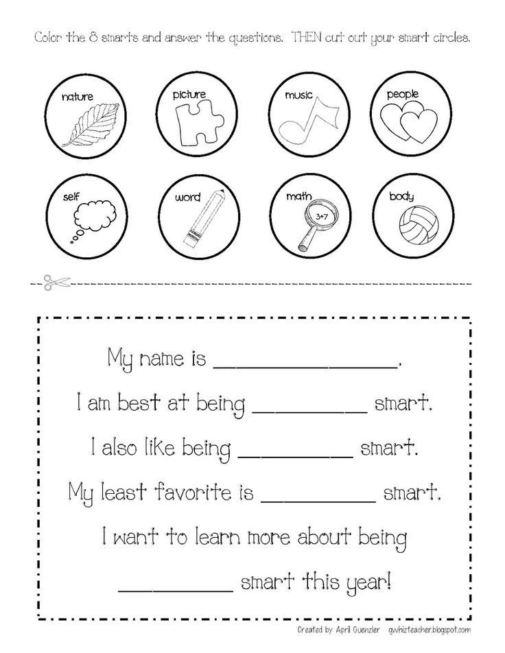 Multiple Intelligences, gwhizteacher, brain mapping, free brain mapping activity