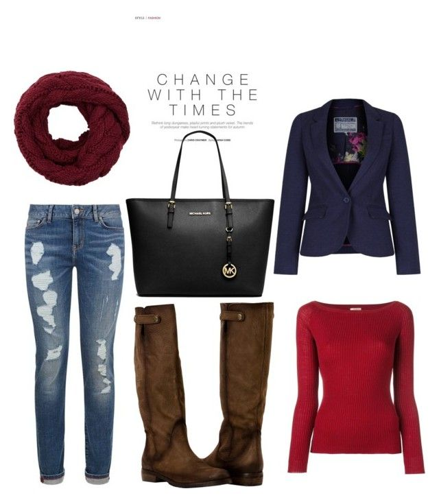 """""""Untitled #18"""" by terka-zelenkova on Polyvore featuring Nude, Joules and Michael Kors"""
