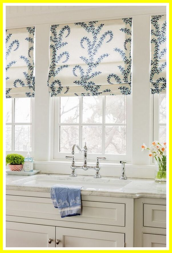 31 Reference Of Kitchen Blinds Curtains Ideas In 2020 Kitchen Window Coverings White Kitchen Windows Kitchen Window Design