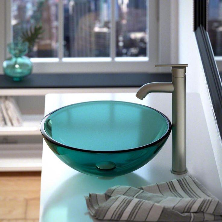 601 Emerald Glass Vessel Sink
