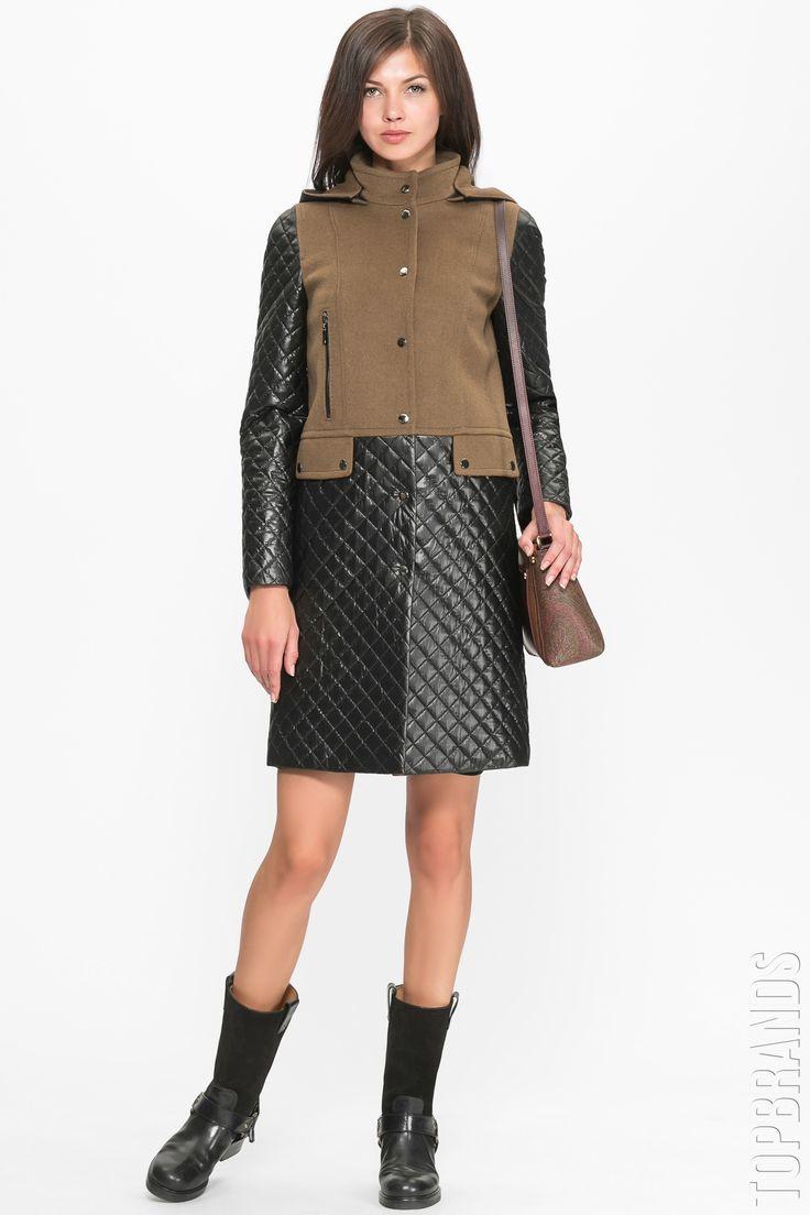 Пальто с капюшоном Icoat By Pompa 1015840i00006 за 14200 руб. Интернет магазин брендовой одежды премиум-класса онлайн бутик - Topbrands.ru