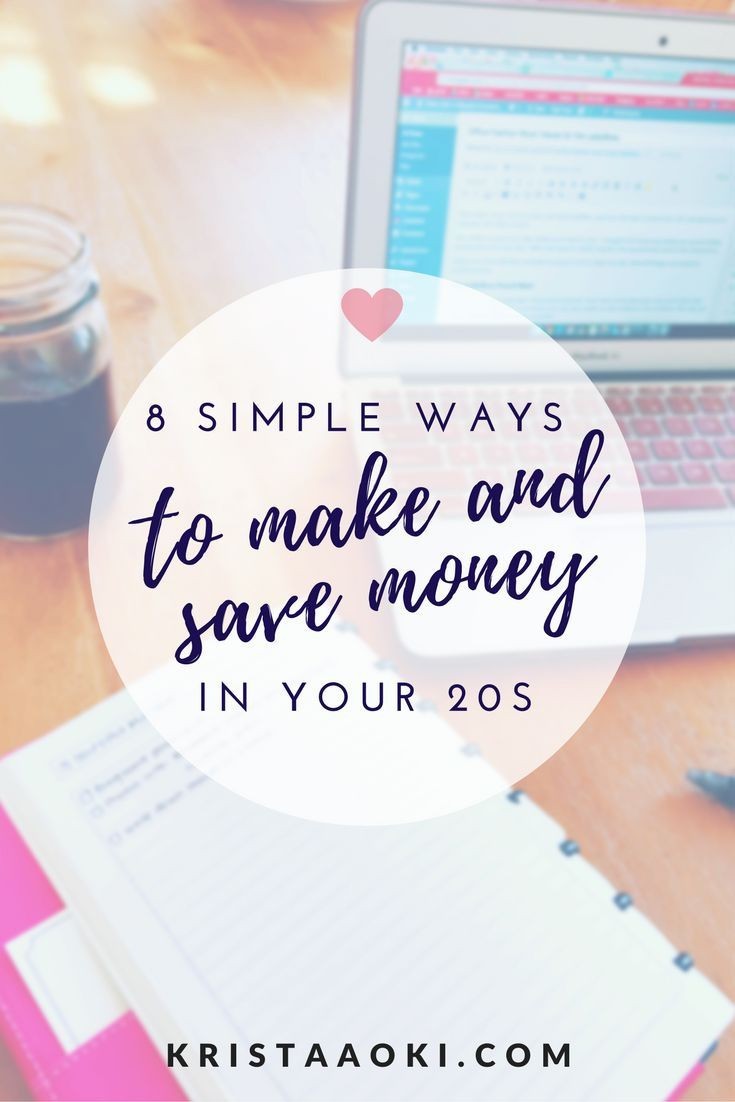 8 Simple Ways to Save and Make Money in Your 20s at http://KristaAoki.com, a lifestyle and travel blog. personal finance tips, entrepreneurial advice, and savings tips for the millennial who wants to live a life they love
