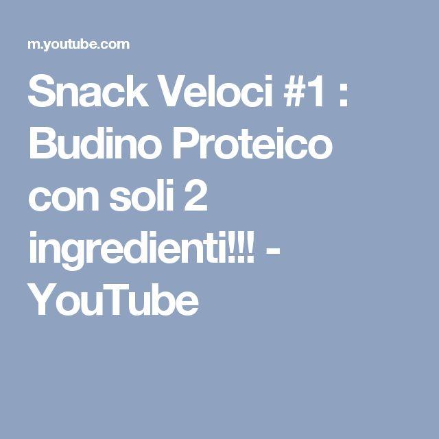 Snack Veloci #1 : Budino Proteico con soli 2 ingredienti!!! - YouTube