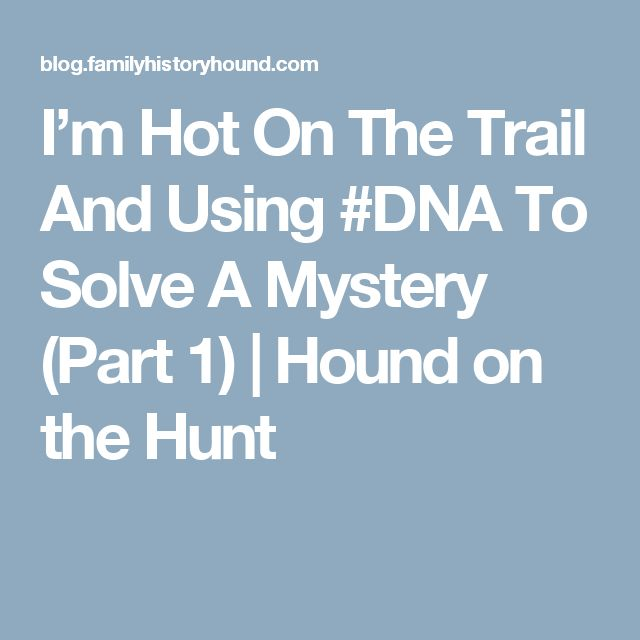 I'm Hot On The Trail And Using #DNA To Solve A  Mystery (Part 1) | Hound on the Hunt
