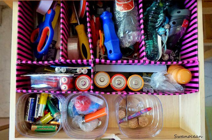 Swanocean: Organizing the junk drawer-Οργανώνοντας το συρτάρι...