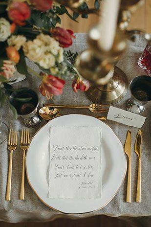 Romantic Shakespeare Wedding Inspiration at Smock Alley by Paula O Hara | www.onefabday.com