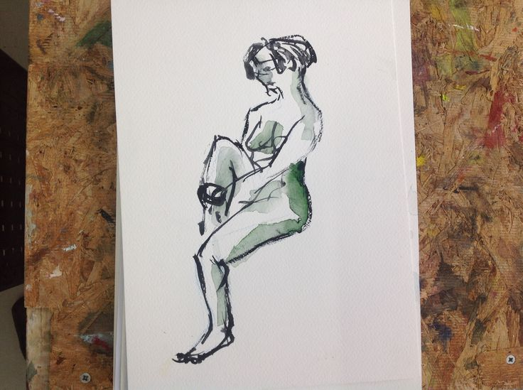 Malli, akvarelli, 2014 Aalto