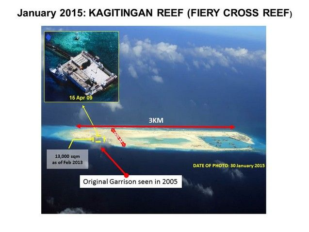 Fiery Cross Reef will be China's main base in the Spratlys