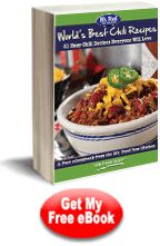 Download free copy of World's Best Chili Recipes: 21 Easy Chili Recipes Everyone Will Love