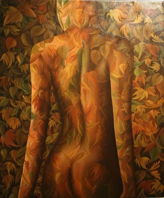"Artista: Patricia Valor ""otoño corporal"" oleo 50 x 60 cm"