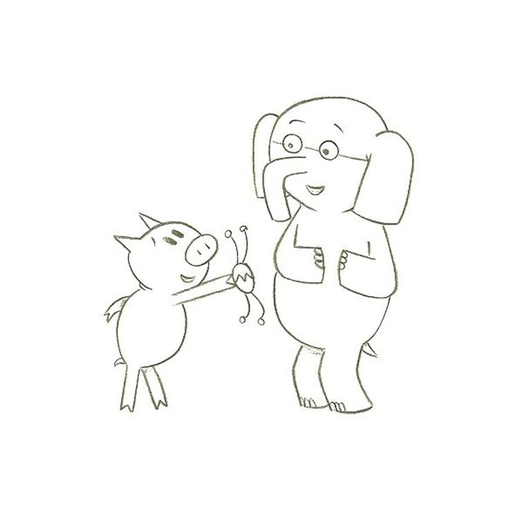Mo Willems Coloring Pages Elephant And Piggie