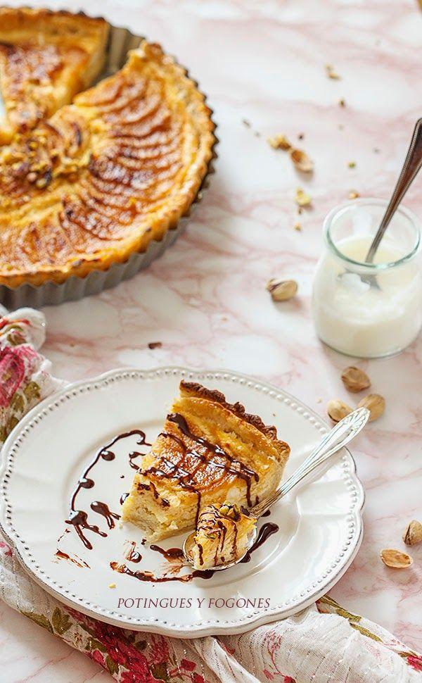 tarta, manzana, fruta, postre