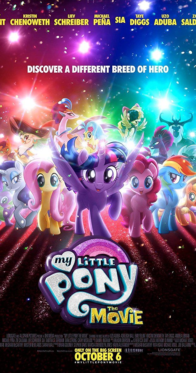 BluRay release ukendt. Directed by Jayson Thiessen. With Emily Blunt, Kristin Chenoweth, Liev Schreiber, Michael Peña. After a dark force conquers Canterlot, the Mane 6 embark on an unforgettable journey beyond Equestria where they meet new friends and exciting challenges on a quest to use the magic of friendship to save their homeland.