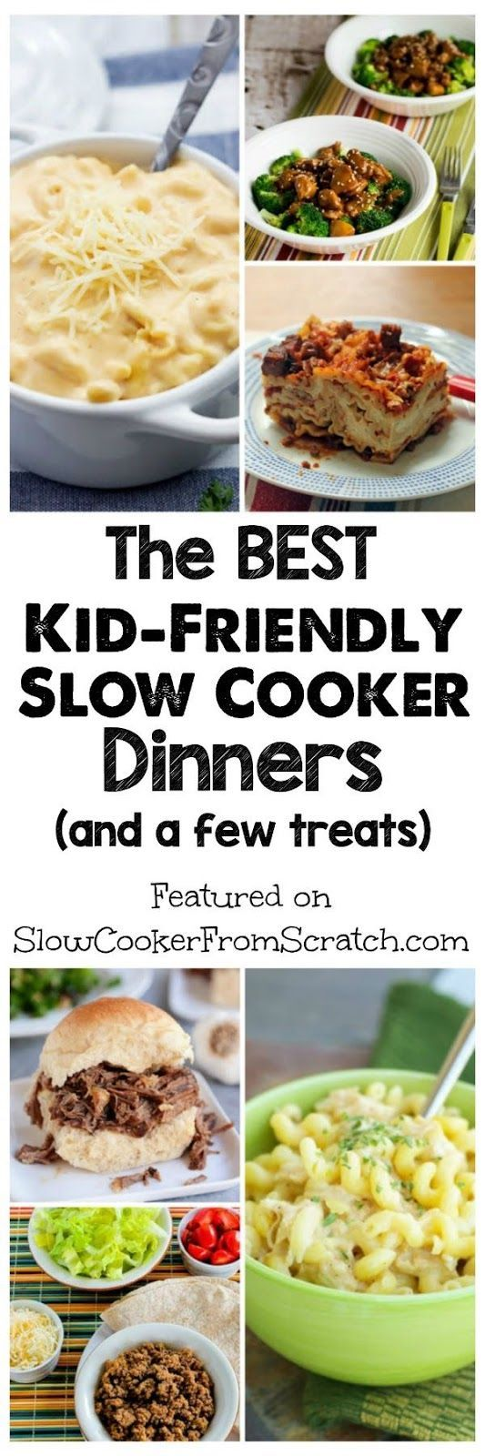 What parent doesn't love it when the kids will eat an easy dinner from the CrockPot, so here are our picks for The BEST Kid-Friendly Slow Cooker Dinners! And there are a few other slow cooker treats that will be a hit with the kids; PIN NOW so you can find this when it's Back-to-School time! [found on SlowCookerFromScr...]: