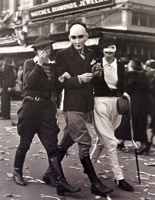 Vintage New Orleans Mardi Gras photo