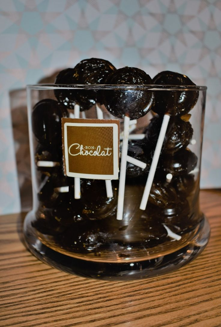 Treacle toffee lollipops at Bon Chocolat of Leeds, perfect for bonfire night