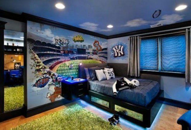une chambre d'adolescent bien décorée