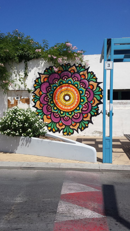 Ibiza Graffiti San Antonio Bay Mandala - looks like my tattoo on my back!!