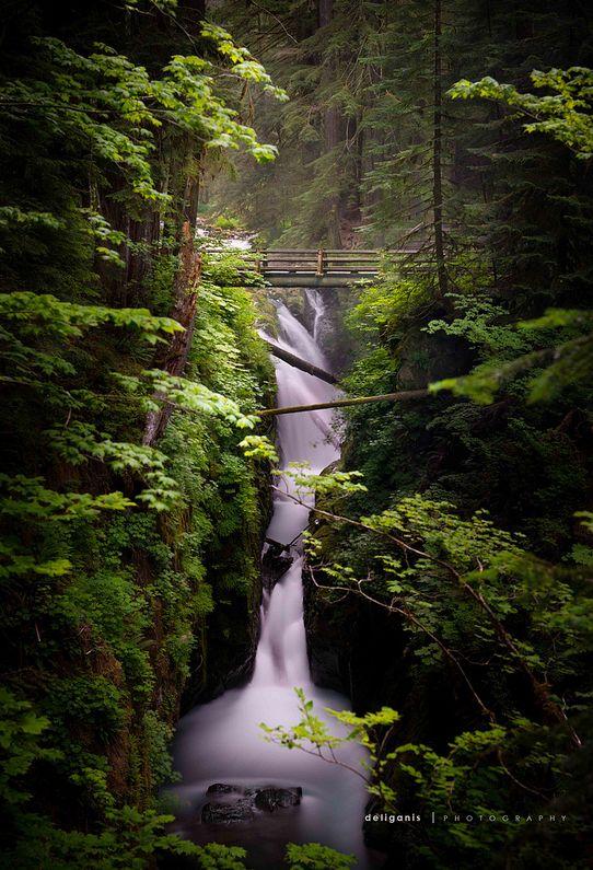 Sol Duc Falls, Olympic National Park, Washington -- Steve Deligan via Flickr