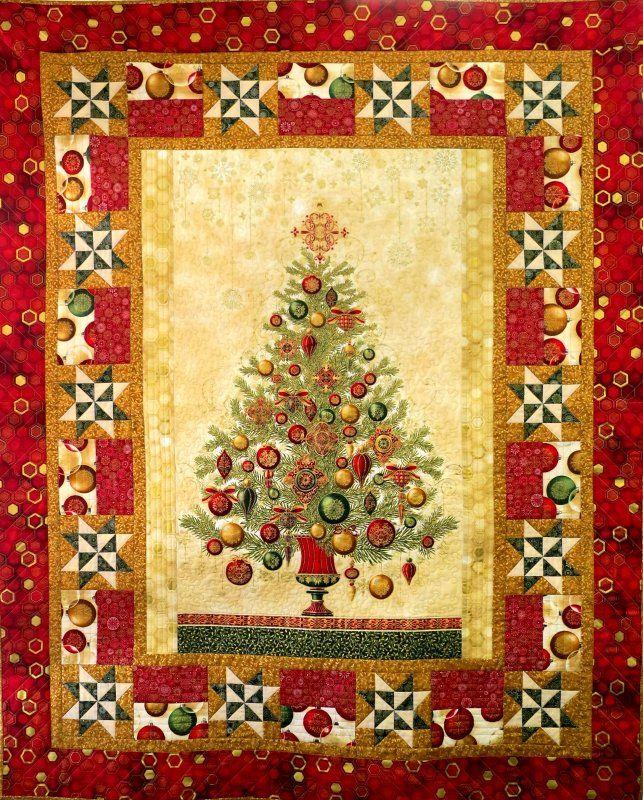 Tinsel and Thyme - Christmas panel kit - just add borders! Gorgeous metallic fabrics.