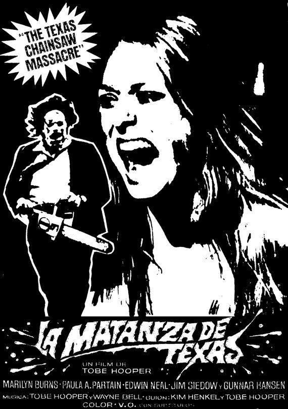 Texas Chainsaw Massacre 1974 horror/ grindhouse/ exploitation movie custom t-shirt