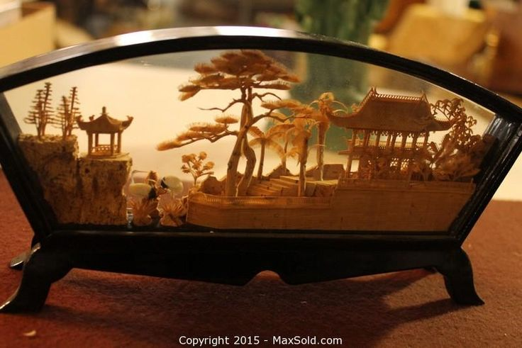 Carved Cork scene sold for $187 in a Rochester MaxSold Online Estate Sale Auction.