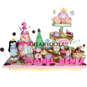 Amelia In Candy Land Acrylics Tier Cake