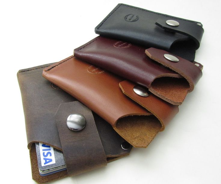 Men's Leather Card Wallet. Perfect size for a front pocket wallet from San Filippo Leather.