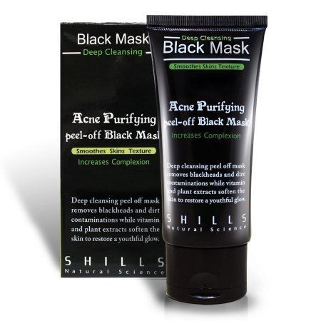 SHILLS Purifying Black Peel-off Mask,Facial Cleansing, Blackhead Remover Deep Cleanser, Acne Face Mask (Single) #facialcleanserforacne