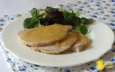 Arrosto di maiale al latte (ricetta senza forno). Ricetta facile dell' arrosto di maiale al latte cotto in pentola a pressione o al tegame con salsa densa