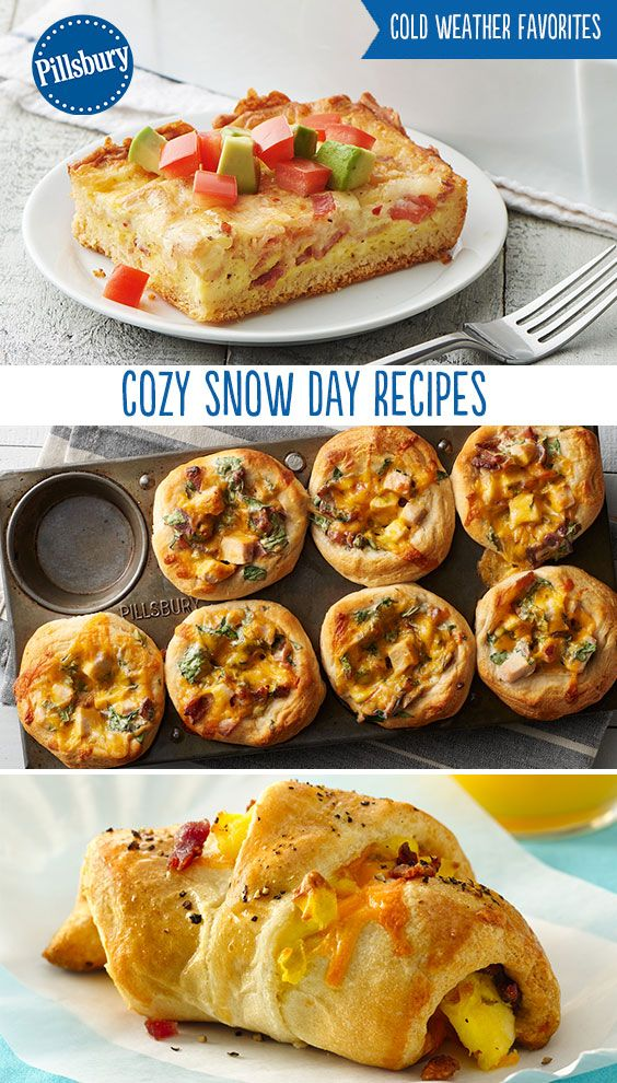 Snow days call for comfort food! Warm up with these delicious breakfast, lunch and dinner recipes while you're braving out the storm.