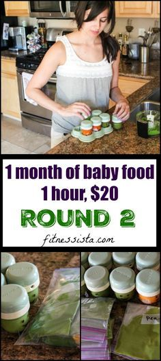 one month of healthy homemade baby food with recipes and steps - if I can get around to this! :)