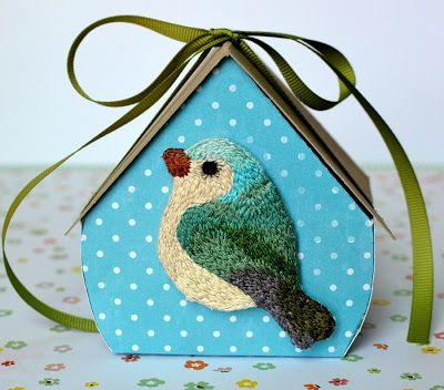 Bernard The Bird!  Hand made bird brooch