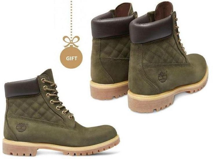 The perfect xmas gift for him.....☃☃ Green Nubuck with Quilted Panel#cold #days#timberland #boots #classic #available #sidervaluablesteps #siderstores #perfect #shoes