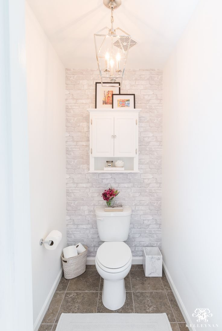 Toilet Room Makeover Reveal And Clever Bathroom Storage Kelley Nan Toilet Room Decor Toilet Room Clever Bathroom Storage