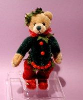 "3-1/2"" tall jointed teddy bear.  Sold in MINIATURE ANIMALS on website http://barbspencerdolls.com.  Collectible."