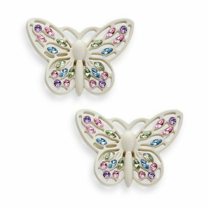 Cambria My Room Butterfly Finial Finials In White Set Of 2