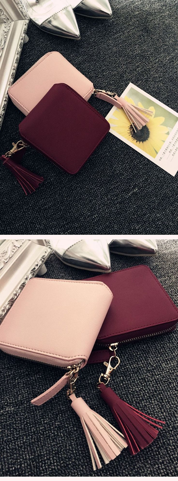 #ULZZANG #wallet  Top quality Square women coin purses holders wallet,leather female money designer tassel wallets famous brand women wallet 2016 from Reliable wallet crocodile suppliers on Choir shop