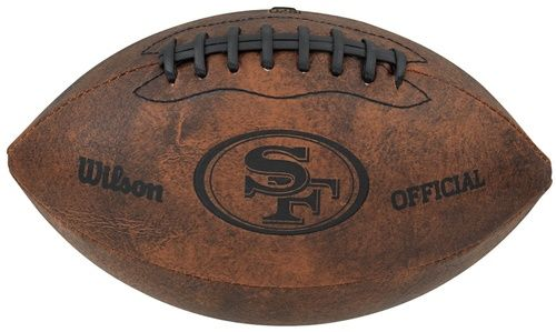San Francisco 49ers Football - Vintage Throwback - 9 Inches