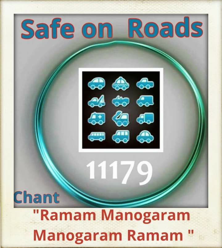 For safe travel RAMAM MANOHARAM MANOHARAM RAMAM