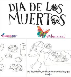 Free Día de Muertos Coloring Story Book In Spanish via