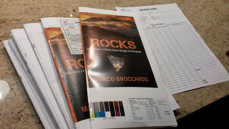 And it's off to the printing press ROCKS goes – proofs from the printer all checked and given the green light.