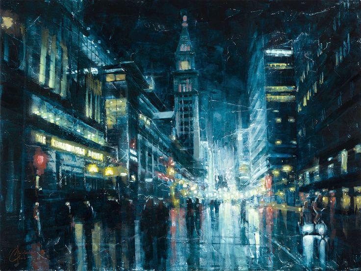 """""""Evening on 16th Street"""" Gallery Wrap - The Incredible Art Gallery"""