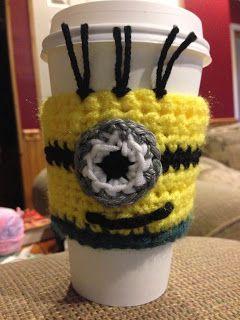 Minion Coffe Cup Sleeve Crochet Pattern