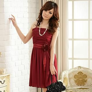 Buy 'JK2 – Corsage-Accent Chiffon Party Dress' with Free Shipping at YesStyle.com.au. Browse and shop for thousands of Asian fashion items from China and more!